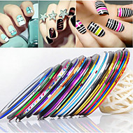 voordelige -24PCS Mixs Kleur Striping Tape Line Nail Stripe Tape Nail Art Decoratie Sticker