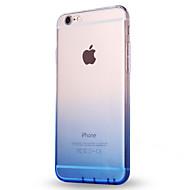 Назначение iPhone X iPhone 8 Чехлы панели Ультратонкий Полупрозрачный Задняя крышка Кейс для Градиент цвета Мягкий Термопластик для Apple