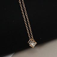 Dame Halskædevedhæng - Rhinsten, Simuleret diamant Mode Guld, Sølv Halskæder Smykker Til Afslappet