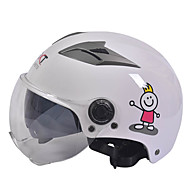 短い透明レンズ付き55〜61センチメートルに適したGXT M11オートバイハーフヘルメットデュアルレンズハーレー日焼け止めヘルメット夏ユニセックス