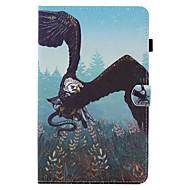 Недорогие Чехлы и кейсы для Samsung Tab-Кейс для Назначение SSamsung Galaxy Вкладка 9,7 Вкладка 8,0 Бумажник для карт со стендом Флип С узором Чехол Животное Твердый Кожа PU для