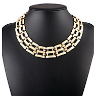 cheap Jewelry & Watches-Women's Single Strand Choker Necklace / Statement Necklace - Statement, Vintage, European Gold, Silver Necklace Jewelry For Birthday, Daily