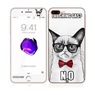 Недорогие Защитные плёнки для экрана iPhone-Защитная плёнка для экрана Apple для iPhone 7 Закаленное стекло 1 ед. Защитная пленка для экрана и задней панели Узор