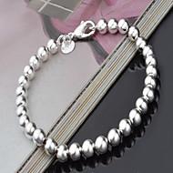 お買い得  -女性用 真珠 ストランドブレスレット  -  銀メッキ 幸福 欧風, ファッション ブレスレット シルバー 用途 クリスマスギフト パーティー 誕生日