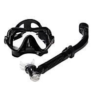 Tauchmasken Schnorchel Schwimmbrille Schnorchelset Ventilschnorchel Tauchen und Schnorcheln Glas Silikon für Unisex-SBART