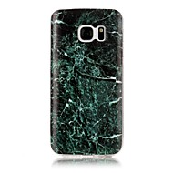 Кейс для Назначение SSamsung Galaxy S7 edge S7 IMD С узором Задняя крышка Мрамор Мягкий TPU для S7 edge S7 S6 edge S6 S5 S4 S3