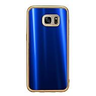 Mert Galvanizálás Case Hátlap Case Egyszínű Puha TPU mert Samsung S7 edge