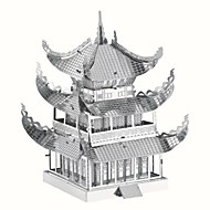 tanie Zabawki & hobby-Zabawki 3D Puzzle Metalowe puzzle Zabawki Znane budynki Chińska architektura Architektura 3D DIY Metal Dziecięce Sztuk