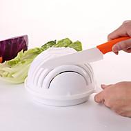 お買い得  キッチン用小物-迅速なサラダメーカー60秒サラダボウルチョッパー野菜