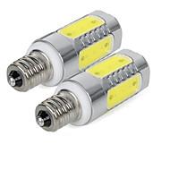 Χαμηλού Κόστους Λαμπτήρες LED τύπου Corn-3 W 300 lm E14 LED Λάμπες Καλαμπόκι 5 leds COB Ψυχρό Λευκό AC85-265
