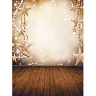 1,5 x 2,1 m vinil háttér ruhával fotózás karácsonyi fantázia hópehely csillagok
