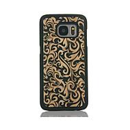 billige Etuier til Samsung-Etui Til Samsung Galaxy S7 edge S7 Mønster Bagcover Blomst Hårdt Bambus for S7 edge S7 S6 edge S6