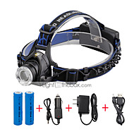 U'King Headlamps Headlight LED 2000 lm 3 Mode Cree XM-L T6 with Batteries and Chargers Zoomable Adjustable Focus Compact Size Easy