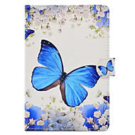 Case For Apple with Stand / Pattern Full Body Cases Butterfly Hard PU Leather for iPad Mini 3/2/1 / iPad Mini 4 / iPad (2018)