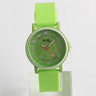Reloj de Moda Cuarzo / Silicona Banda Casual Verde Verde
