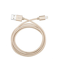 cheap iPhone Cables & Adapters-Lightning USB Cable Adapter Charging Cable Charger Cord Data & Sync Cord Braided Cables Cable For iPad Apple iPhone 110 cm Textile Nylon