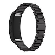 Недорогие Аксессуары для смарт-часов-Ремешок для часов для Gear Fit 2 Samsung Galaxy Классическая застежка Нержавеющая сталь Повязка на запястье