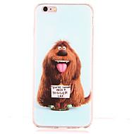 Недорогие Сегодняшнее предложение-Кейс для Назначение Apple Защита от удара С узором Кейс на заднюю панель С собакой Мягкий ТПУ для iPhone 6s Plus iPhone 6s iPhone 6 Plus