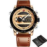Недорогие Фирменные часы-NAVIFORCE Муж. Наручные часы / Армейские часы / Спортивные часы Будильник / Календарь / Защита от влаги / Крупный циферблат / Панк / Cool