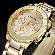 Mujer Reloj de Moda Reloj de Pulsera Cuarzo Brillante Acero Inoxidable Banda Cool Plata Dorado Dorado Plata Rosa