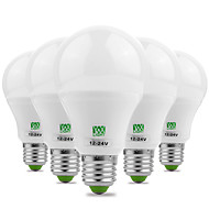 YWXLight® 7W E26/E27 LED Globe Bulbs 14 SMD 5730 600-700 lm Warm White Cold White Decorative AC 12 DC 12-24 V 5pcs