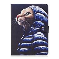 Hülle Für Apple Geldbeutel / Kreditkartenfächer / mit Halterung Ganzkörper-Gehäuse Katze Hart PU-Leder für iPad Air / iPad Air 2 / iPad Pro 9.7 ''