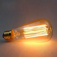 tanie Żarówki tradycyjne-1 szt. 60 W E26 / E27 ST64 Ciepła biel 2300 k Retro / Dekoracyjna Żarówka Edisona w stylu vintage 220-240 V