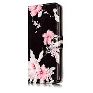 Недорогие Кейсы для iPhone 8-Кейс для Назначение Apple iPhone X / iPhone 8 Кошелек / Бумажник для карт / со стендом Чехол Цветы Твердый Кожа PU для iPhone X / iPhone 8 Pluss / iPhone 8