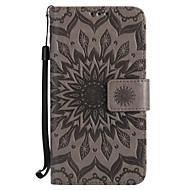 Недорогие Чехлы и кейсы для Galaxy S6 Edge Plus-Кейс для Назначение SSamsung Galaxy S7 edge S7 Бумажник для карт Кошелек со стендом Флип Рельефный Чехол Цветы Твердый Кожа PU для S7