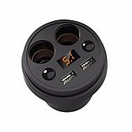 Недорогие Автомобильные зарядные устройства-Несколько портов Разъем для подключения к прикуривателю Другое 2 USB порта Только зарядное устройство Автомобиль 5V/3.1A