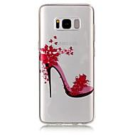 Недорогие Чехлы и кейсы для Galaxy S8 Plus-Кейс для Назначение SSamsung Galaxy S8 Plus S8 IMD Прозрачный С узором Кейс на заднюю панель Соблазнительная девушка Мягкий ТПУ для S8