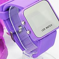 halpa Korut&Kellot-Naisten Smartwatch Quartz kuuma Myynti Silikoni Bändi Digitaalinen Vapaa-aika Valkoinen / Sininen / Violetti - Valkoinen Vaalean sininen Purppura