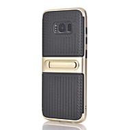 hoesje Voor Samsung Galaxy S8 Plus S8 met standaard Achterkantje Lijnen / golven Hard PC voor S8 S8 Plus S7 edge S7 S6 edge plus S6 edge
