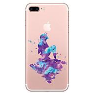 Недорогие Кейсы для iPhone 8-Кейс для Назначение Apple iPhone X / iPhone 8 Прозрачный / С узором Кейс на заднюю панель Мультипликация Мягкий ТПУ для iPhone XS / iPhone XR / iPhone XS Max