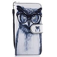 Недорогие Чехлы и кейсы для Galaxy А-Кейс для Назначение SSamsung Galaxy A5(2017) A3(2017) Бумажник для карт Кошелек со стендом Флип С узором Чехол Сова Твердый Кожа PU для