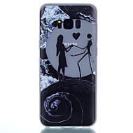 Недорогие Чехлы и кейсы для Galaxy S8-Кейс для Назначение SSamsung Galaxy S8 Plus S8 Сияние в темноте Матовое Полупрозрачный С узором Кейс на заднюю панель С сердцем Мягкий ТПУ