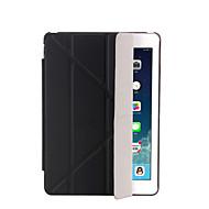 halpa iPad kuoret / kotelot-Varten Tuella AutomAutomaattinen auki/kiinni Flip Läpinäkyvä Origami Etui Kokonaan peittävä Etui Yksivärinen Kova Tekonahka varten Apple