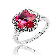 Жен. Кольцо Бижутерия Базовый дизайн Цветочный дизайн Цветы Цветочный принт Euramerican Синтетические драгоценные камни В форме цветка