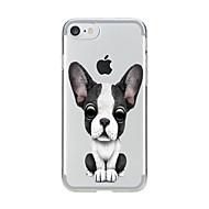 のために クリア パターン ケース バックカバー ケース 犬 ソフト TPU のために AppleiPhone 7プラス iPhone 7 iPhone 6s Plus iPhone 6 Plus iPhone 6s iphone 6 iPhone SE/5s iPhone