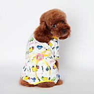 Mačke Psi T-majica Pidžama Bijela Plav Narančasta Odjeća za psa Ljeto Proljeće/Jesen Crtani film Slatko Ležerno/za svaki dan