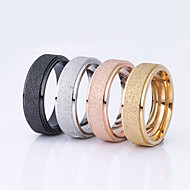 Women's Couple Rings - Stainless Steel, Titanium Steel, Gold Plated Ladies, Basic Jewelry Black / Silver / Champagne For Wedding Party Special Occasion Daily Casual Masquerade 6 / 7 / 8 / 9