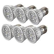 4W E26/E27 Faretti LED 4 leds LED ad alta intesità Luce fredda 360lm 6000