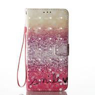 Недорогие Чехлы и кейсы для Galaxy S8 Plus-Кейс для Назначение SSamsung Galaxy S8 Plus S8 Бумажник для карт Кошелек со стендом Флип С узором Чехол Слова / выражения Твердый Кожа PU