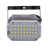 U'king Mini Sound Control 36Pcs White LEDs Room Strobe Spotlight Stage Lighting for Disco Party DJ Light Home Entertainment Music Show Projector
