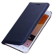 Кейс для Назначение SSamsung Galaxy J7 Prime J5 Prime Бумажник для карт Флип Чехол Сплошной цвет Твердый Искусственная кожа для J7 (2016)