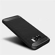 Недорогие Чехлы и кейсы для Galaxy S7-Кейс для Назначение SSamsung Galaxy S8 Plus / S8 Защита от удара Кейс на заднюю панель Однотонный Мягкий ТПУ для S8 Plus / S8 / S7 edge