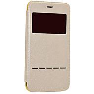 Недорогие Кейсы для iPhone 8-Кейс для Назначение Apple iPhone 8 iPhone 8 Plus с окошком С функцией автовывода из режима сна Покрытие Флип Чехол Сияние и блеск Твердый