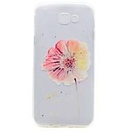 billige -Etui Til Samsung Galaxy A5(2017) A3(2017) Gjennomsiktig Mønster Bakdeksel Blomsternål i krystall Myk TPU til A3 (2017) A5 (2017) A7