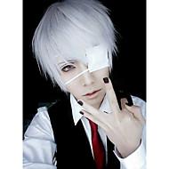 billige Cosplay og kostumer-Cosplay Parykker Maske Tokyo Ghoul Ken Kaneki Anime Cosplay Parykker 26 CM Herre