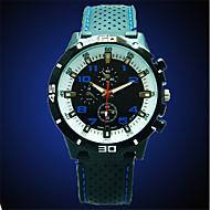 Pánské Módní hodinky Křemenný Silikon Kapela Běžné nošení Černá